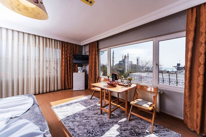 Family Apartment with a Blue Mosque View