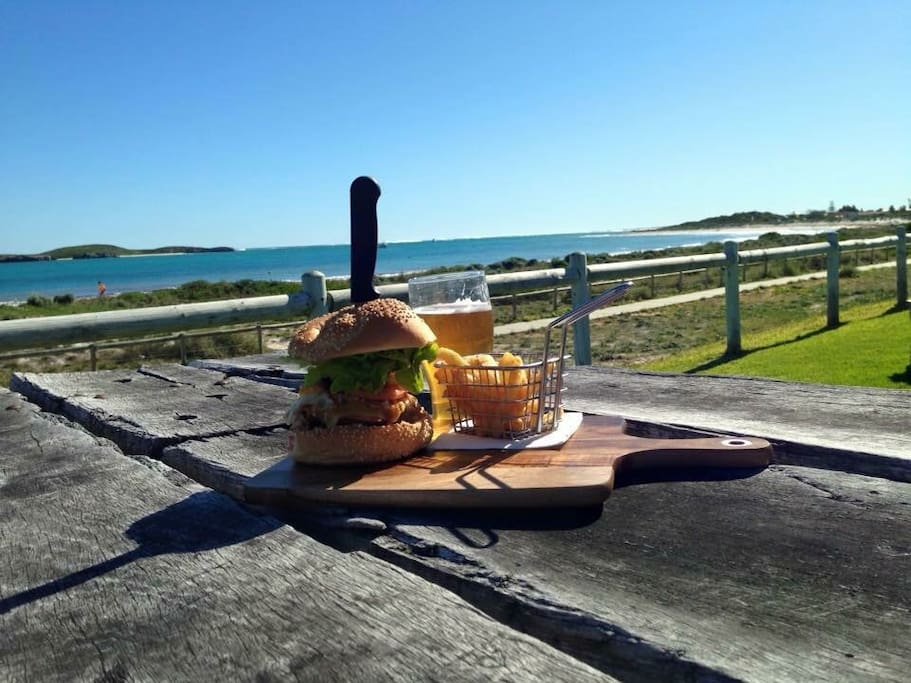 The endeavour hotel is a 2 min walk from our house. With a world class beer garden over looking the beach and amazing food you can't go wrong here