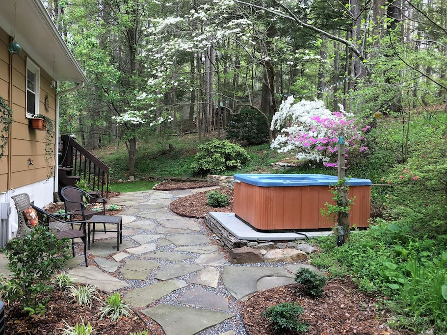 New stonework and landscaping for your outside enjoyment