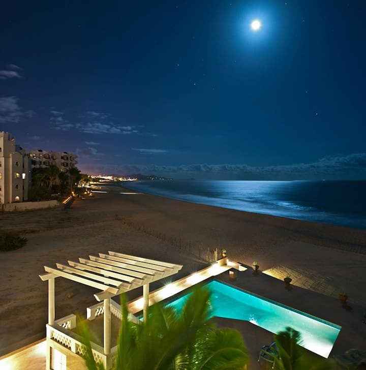 64 steps from your door to sand, Costa Azul beach.