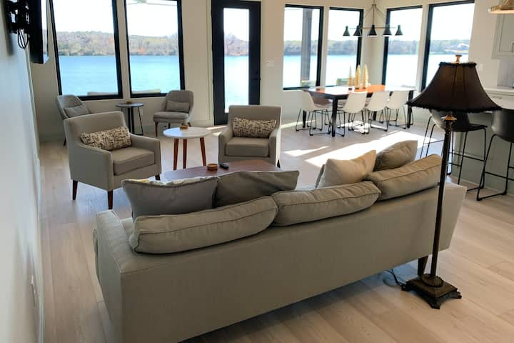 Brand-New, Dog-Friendly Lakefront Getaway w/ Private Dock & Free High-Speed WiFi