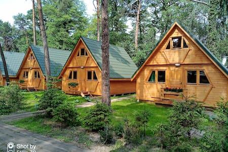 Nowe domki nad samym jeziorem