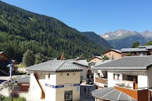 centre du village vue du balcon