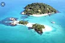 Ilha de Cataguases e ilha do peregrino