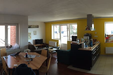 Room in beautiful appartment,with huge sun terrace - Leuven - Apartament
