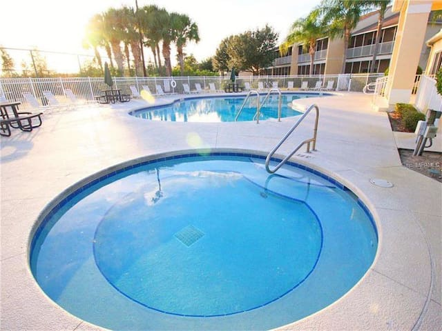 clubhouse heated pool and spa