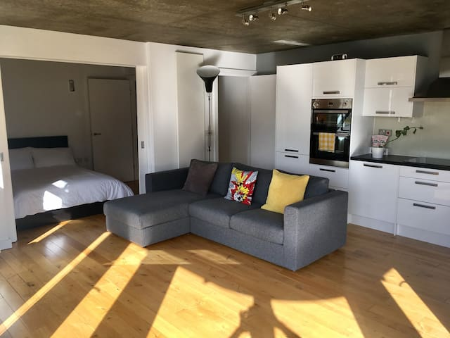 Stylish dbl room by london bridge and London eye.
