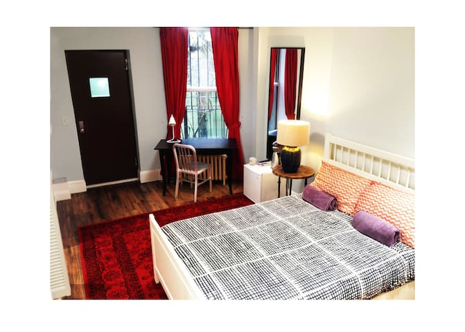 Large suite + private bathroom by central park