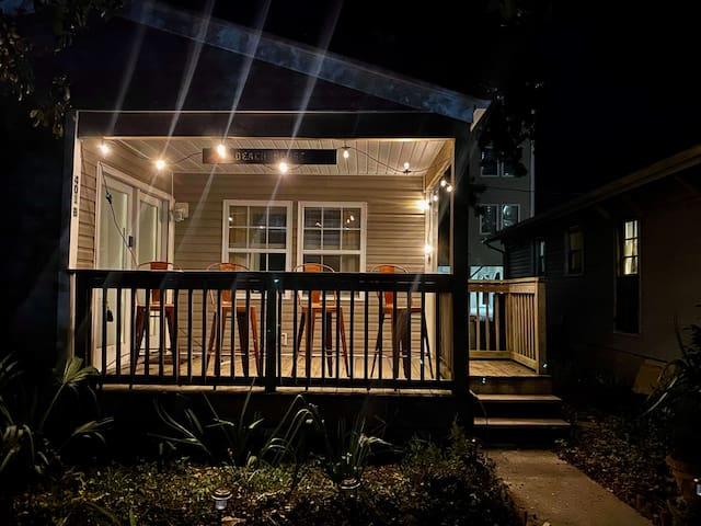 Enjoy the cozy Myrtle Beach nights on your illuminated patio