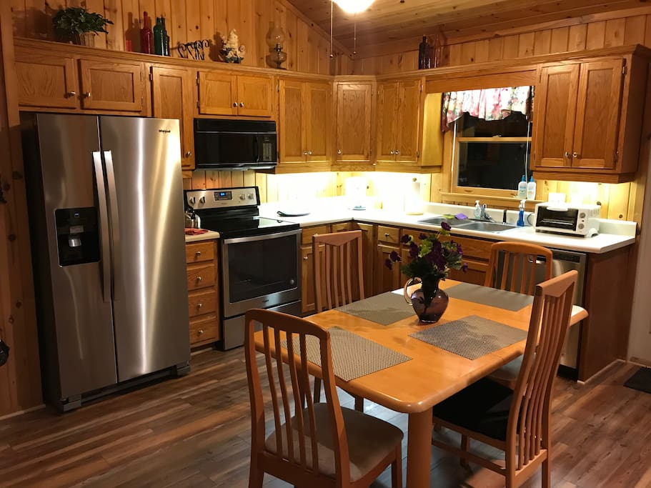 2018- Kitchen remodeled with new stove, new refrigerator, new dishwasher, new pots and new flooring.  We are very excited and hope you like it too!