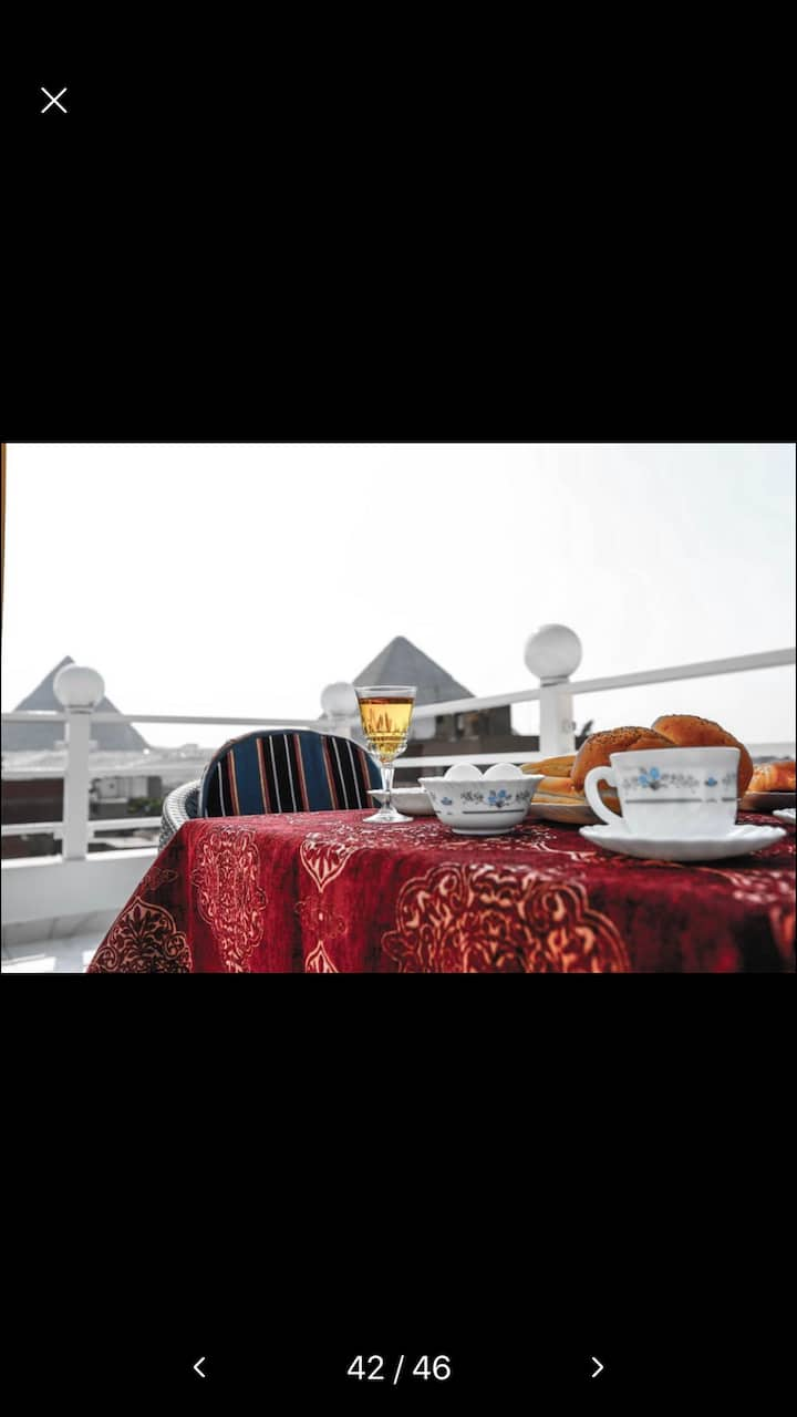 High quality of service & view of giza plateau