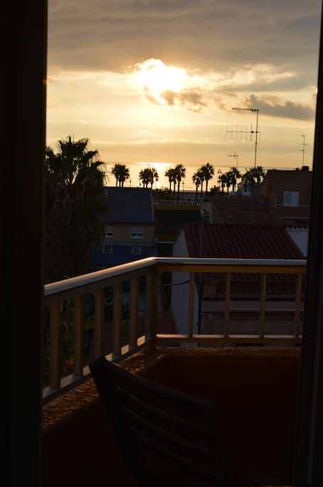 Sunrise: view from balcony