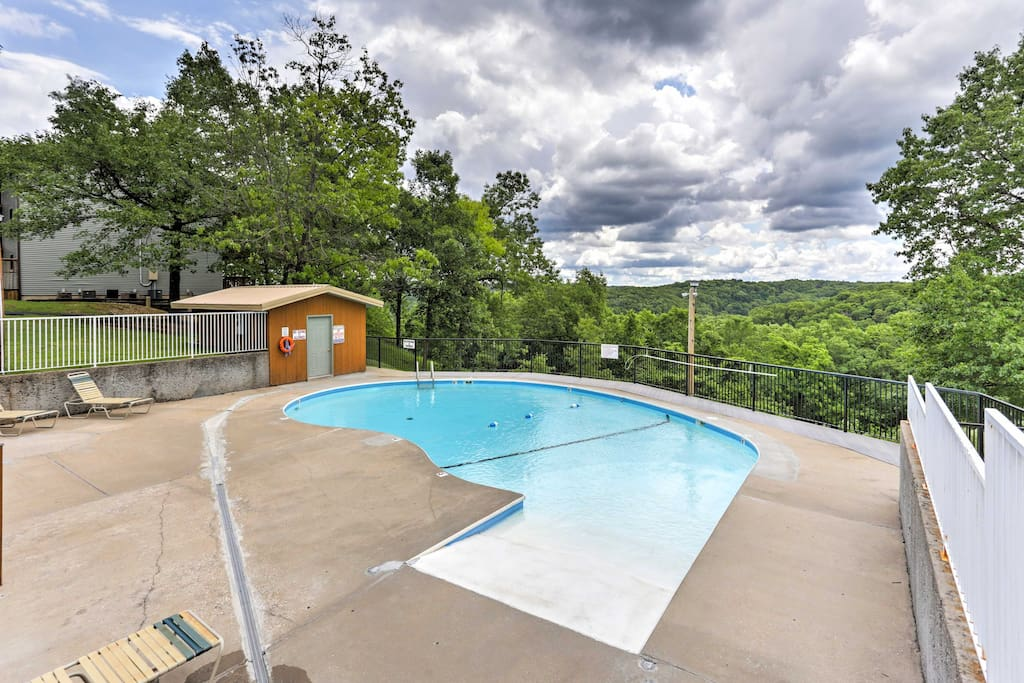 Relax poolside at the community pool that overlooks the mountains!