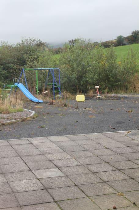 Patio & playground