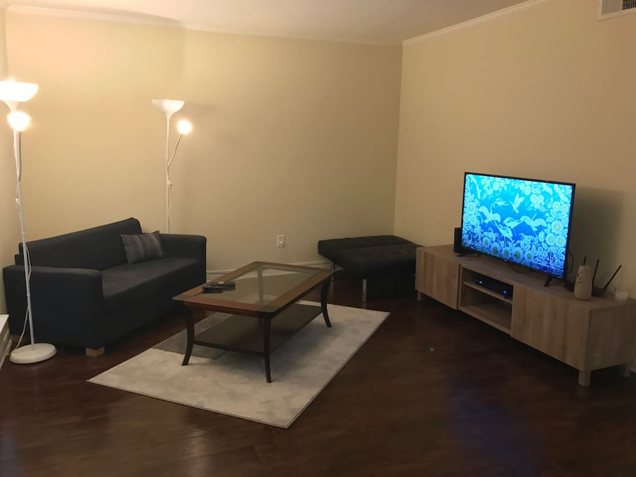 Shared living room with HD cable TV and Netflix available