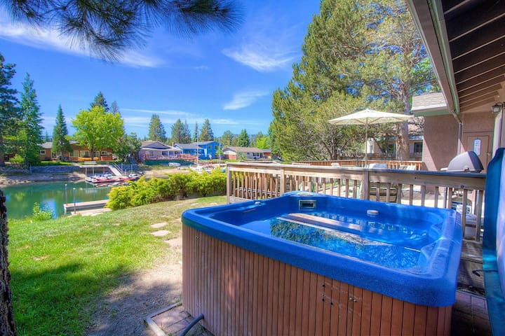 Tahoe Keys Home, Boat Dock, BBQ, Hot Tub, Fireplace, Views, Deck (TKH0886)