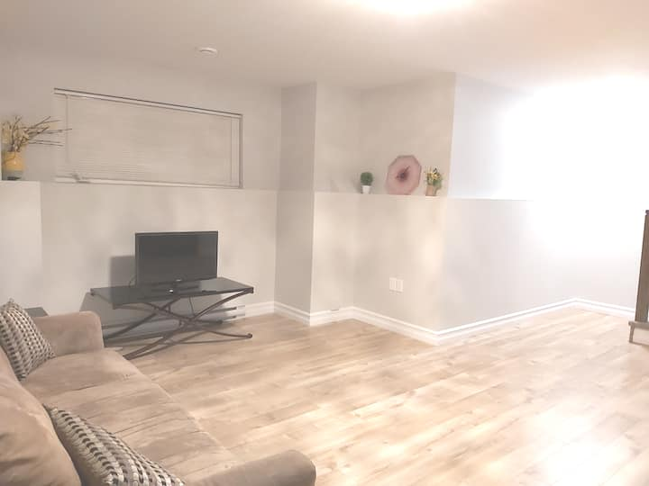 Private Quite Basement..  Happy Home welcomes YOU!