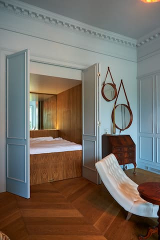 ... is actually one way to access the Sleep Sanctuary (quiet, dark, space to charge all your electronics, out of sight)...
