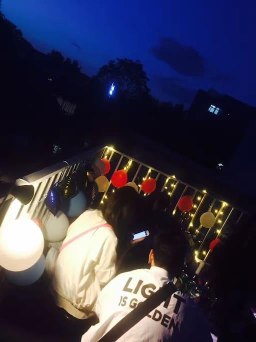 个人组织的party夜景展示