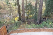 Master bedroom - view of stream from window