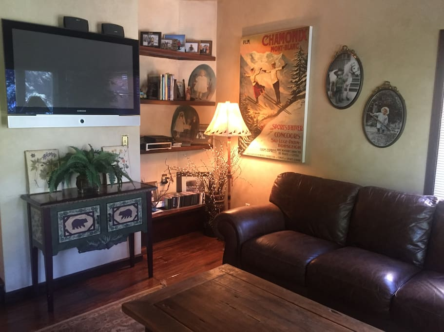 Flat Screen TV in large living room