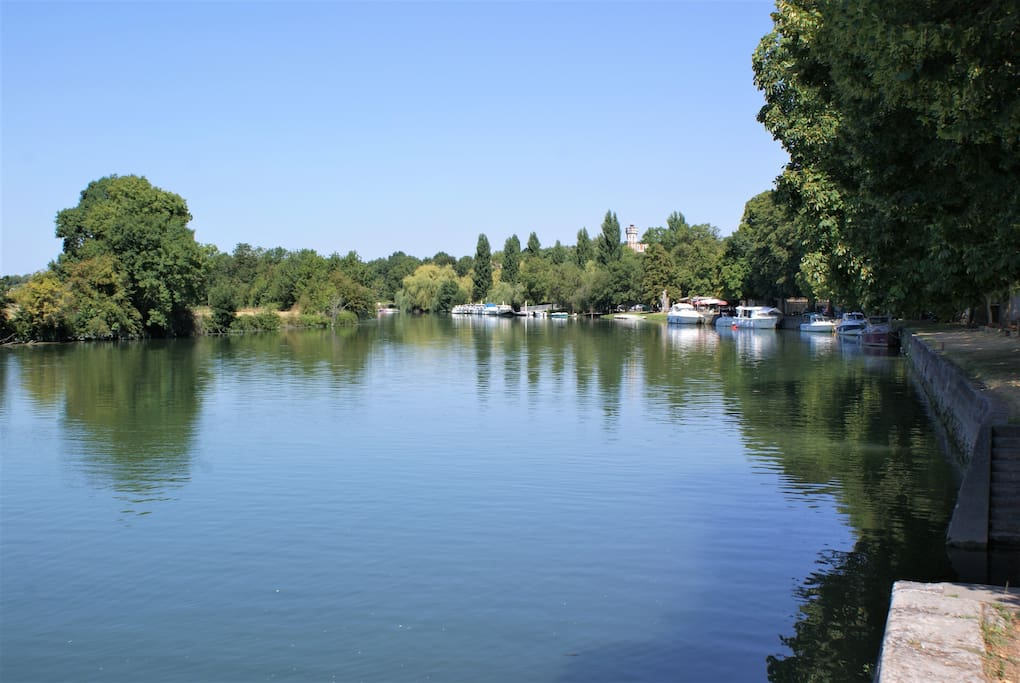 The Beautiful River Charente in the Summer