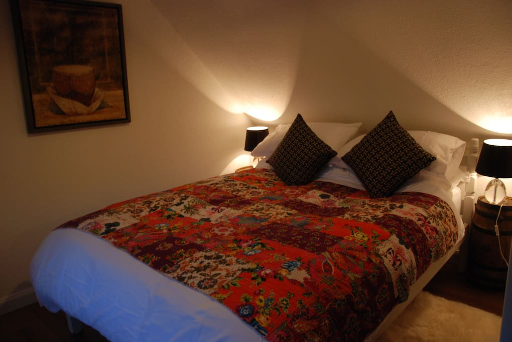 One of the two double guest bedrooms