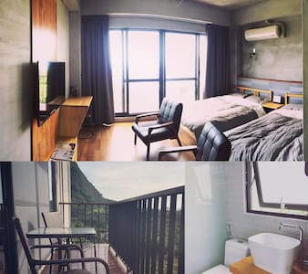 好待goodstay2F海景4人房2double-bed room2F