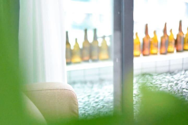 【南桃北隅】三峡广场/磁器口/沙坪坝/薄荷绿遇见灰调/舒服治愈/北欧INS风/一室一厅/咖啡&大床
