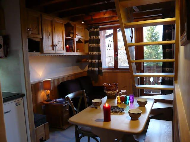 Logement cosy et boisé, piscine, sauna et détente! - Champagny-en-Vanoise - Lägenhet