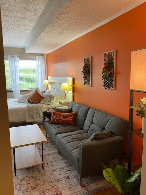 Renovated Studio Condo- Walk to strip, UT, Neyland