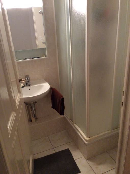 Small but clean and functional shower room - great shower pressure. Toilet is separated but adjacent.