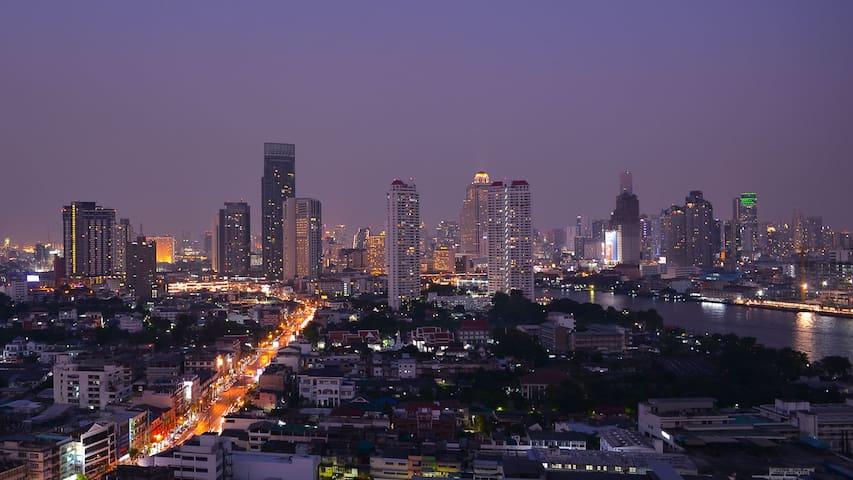 Cozy 2BD Chaophraya River View - Bangkok - Condo