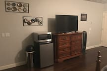 Tv, Microwave, Mini-fridge
