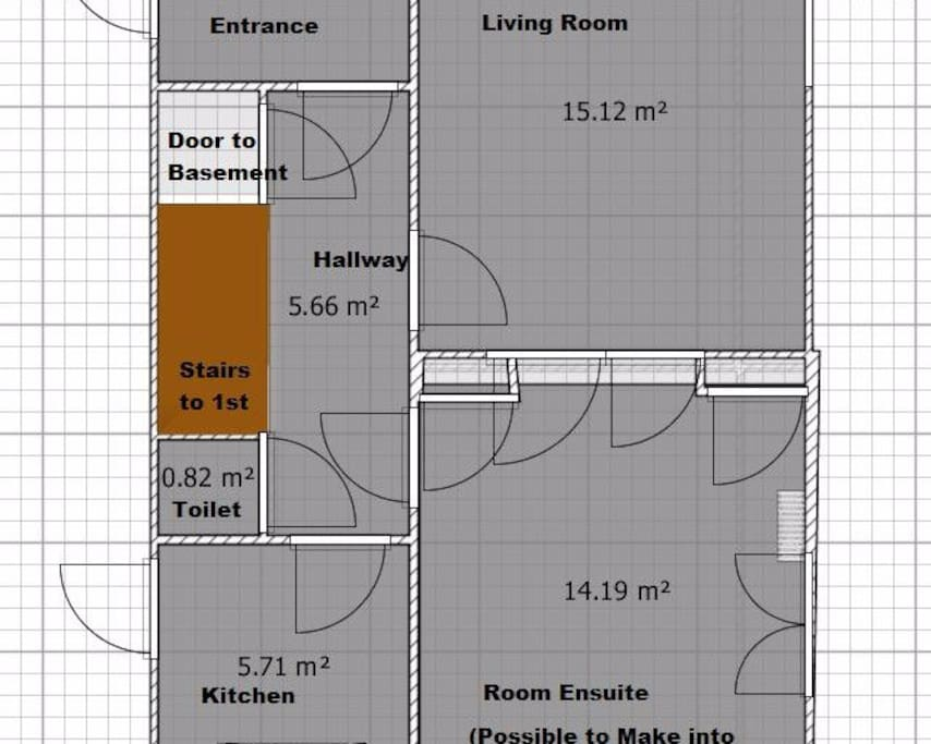Ground Floor: Entrance, Hallway, Living Room, Dining Room, Kitchen