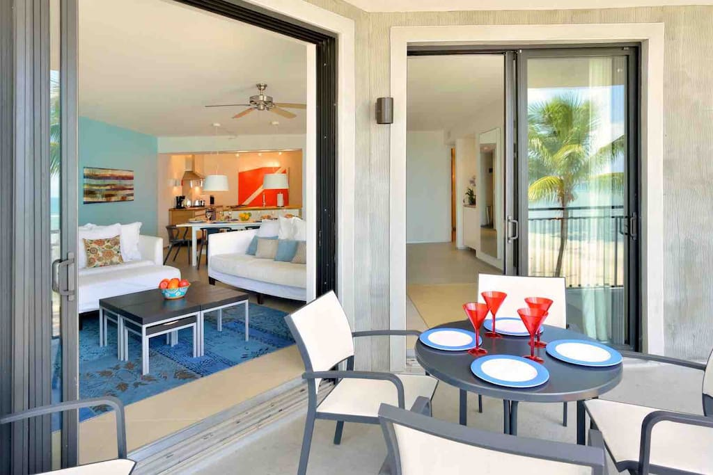 Enjoy a meal on your private balcony...