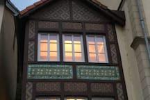 Denkmalgeschütztes Haus, früherer Bahnhof Grundhof