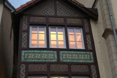 Listed Tudor House, ancient train station - Bollendorf-Pont