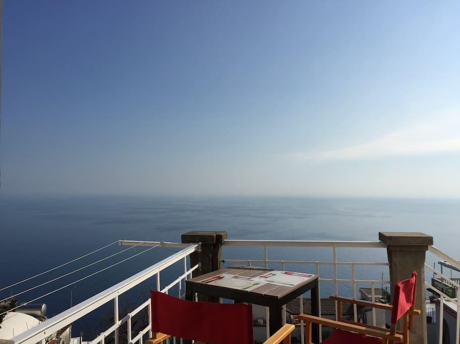Entrance terrace overlooking the sea