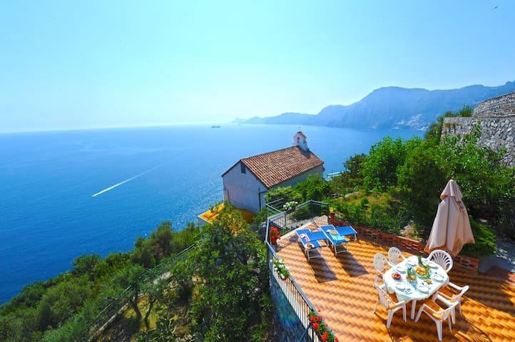 """Villa Horizon"" has the best view of Amalfi coast! - Praiano - Rumah"