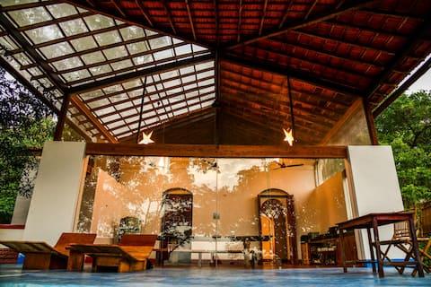 Seclude - Moradia privada luxuosa de 2 quartos em Goa