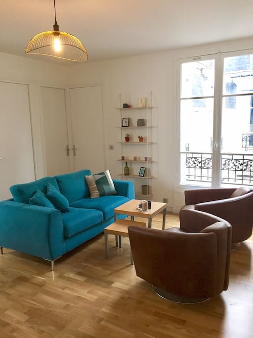 Grand Salon traversant, cosy et lumineux // Big living room cosy and luminous