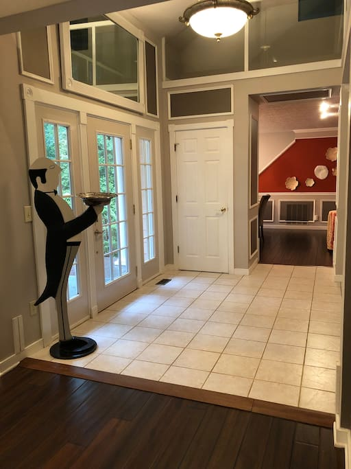 The house comes with a full-time butler for no extra cost but he won't open the door for guests.
