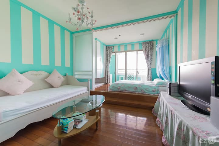 Tiffany blue sea view double room