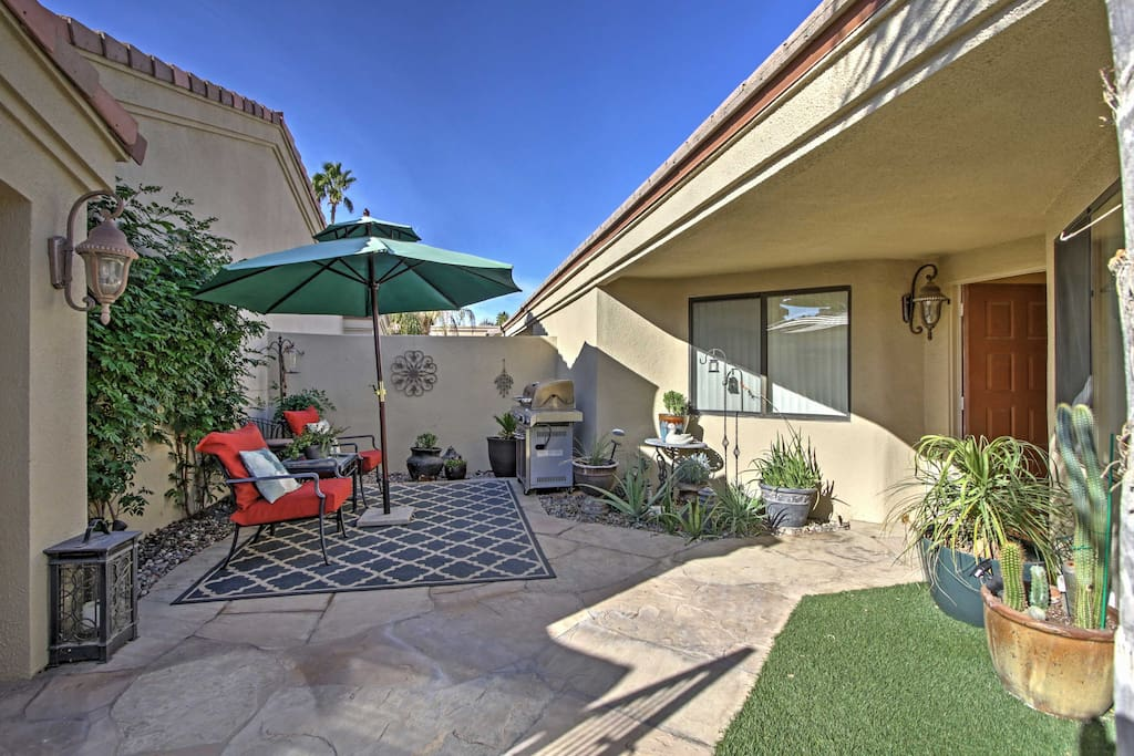 Soak up the California rays on the front patio.