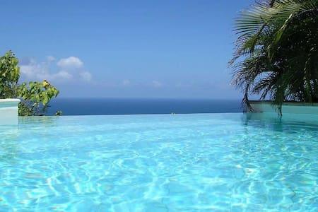 Master room vue exceptionnelle mer des caraîbes - Gustavia - Bungalow