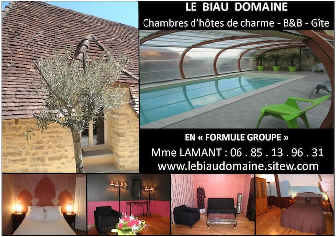 """LE BIAU DOMAINE """"Formule Groupe"""" - Thenon - Bed & Breakfast"""
