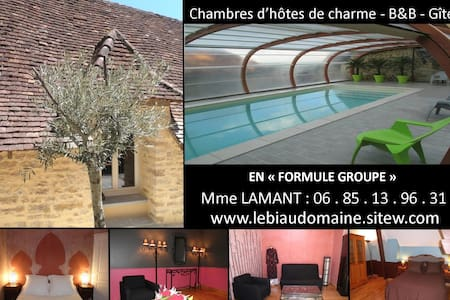 "LE BIAU DOMAINE ""Formule Groupe"" - Thenon - Bed & Breakfast"