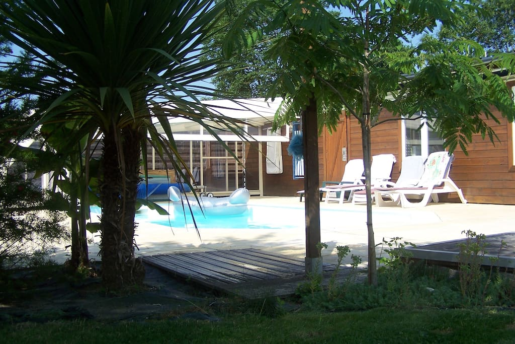 Coin détente plein Sud pool house