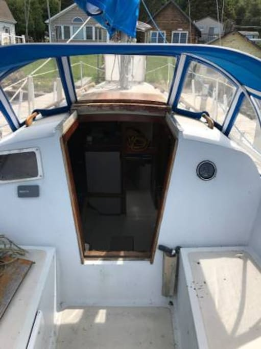 View of entrance (Companionway) leading to main Cabin.